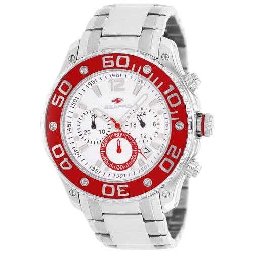 SP1324 Seapro Mens Dive  Silver Band Silver Dial