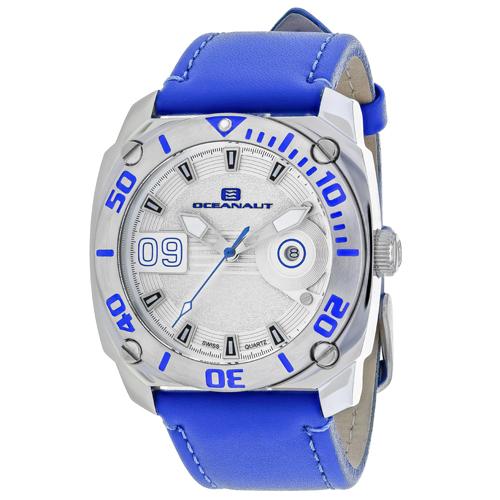 OC1341 Oceanaut Mens Barletta Blue Band Silver Dial