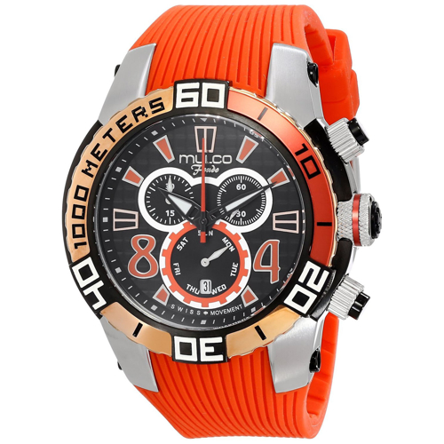 MW1-74197-065 Mulco Womens Fondo wheel Orange Band Black Dial