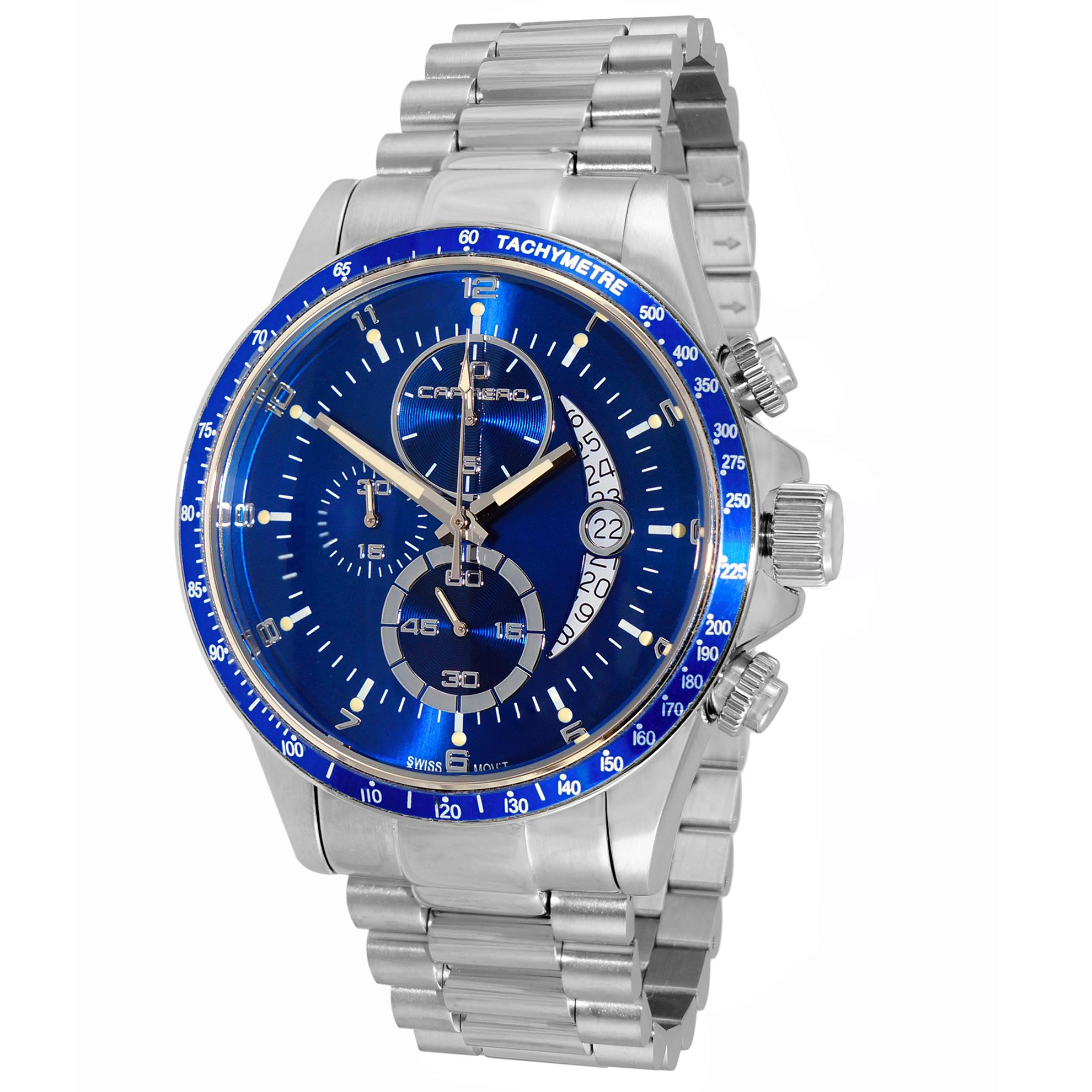 Carrero C1S111BU Carrero Catania R1 Limited Edition Swiss Chronograph Stainless Steel Blue
