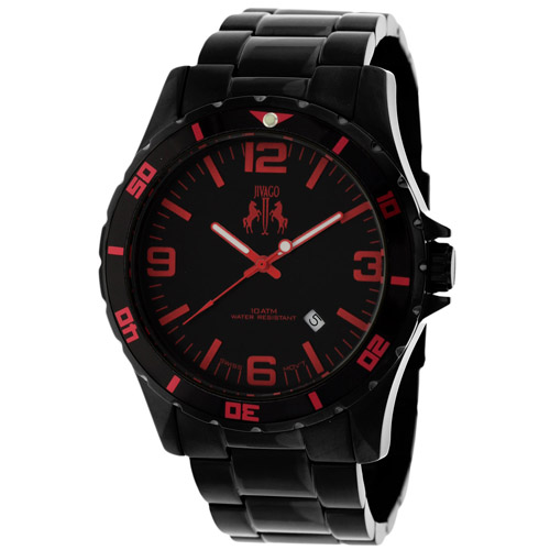 JV6115 Jivago Mens Ultimate Black Band Black Dial
