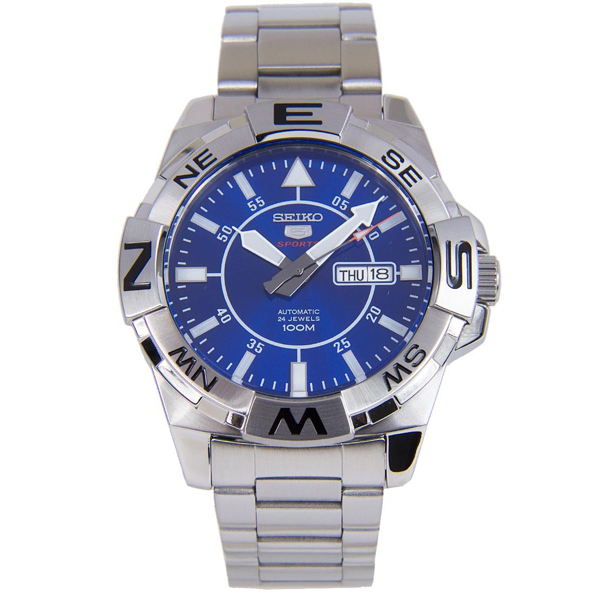 Seiko SE-SRPA61 Seiko Automatic Compass Diver Stainless Steel Blue Dial Glassback