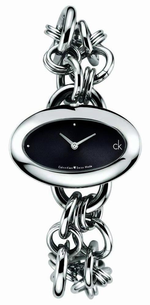 K3823130 Calvin Klein Ladies Contour Black Dial Watch