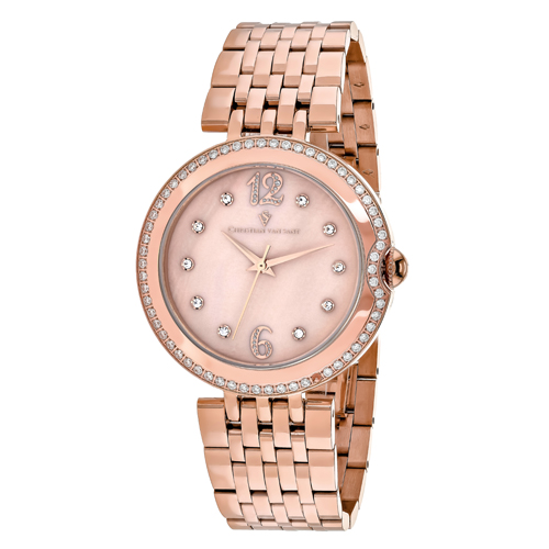 CV1614 Christian Van Sant Womens Jasmine Rose gold Band Rose gold MOP Dial