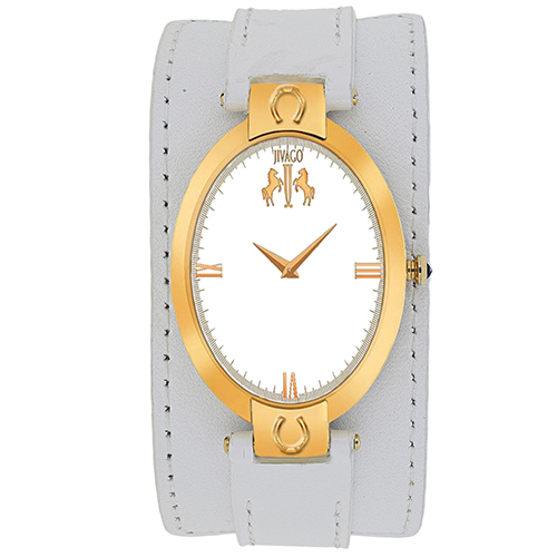 JV1837 Jivago Womens Good luck White Band Silver Dial