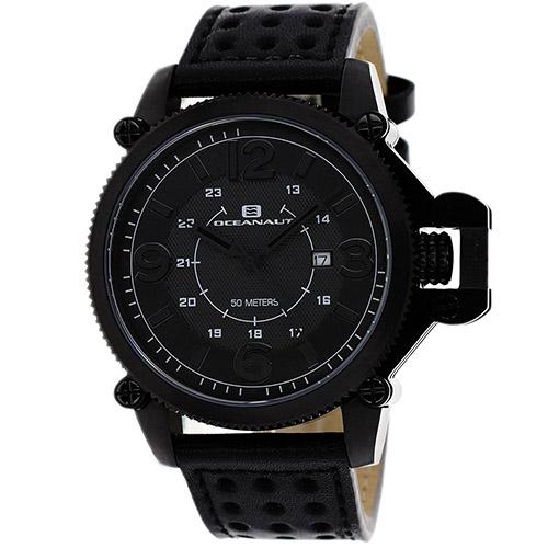 OC4113 Oceanaut Mens Scorpion Black Band Black Dial