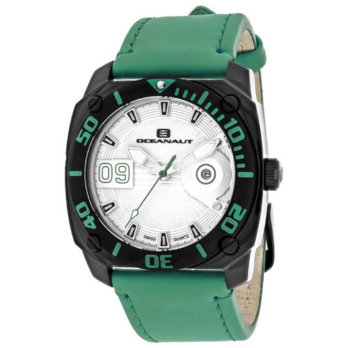 OC1343 Oceanaut Mens Barletta Green Band Silver Dial
