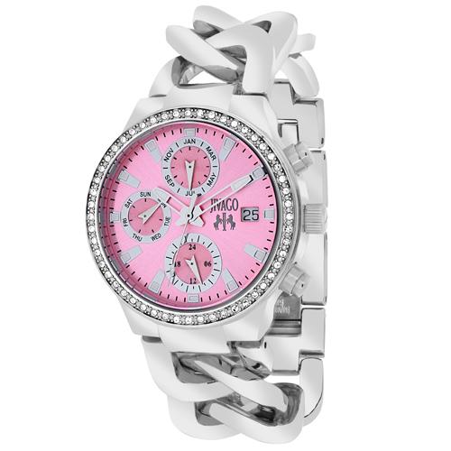JV1248 Jivago Womens Levley Silver Band Pink Dial