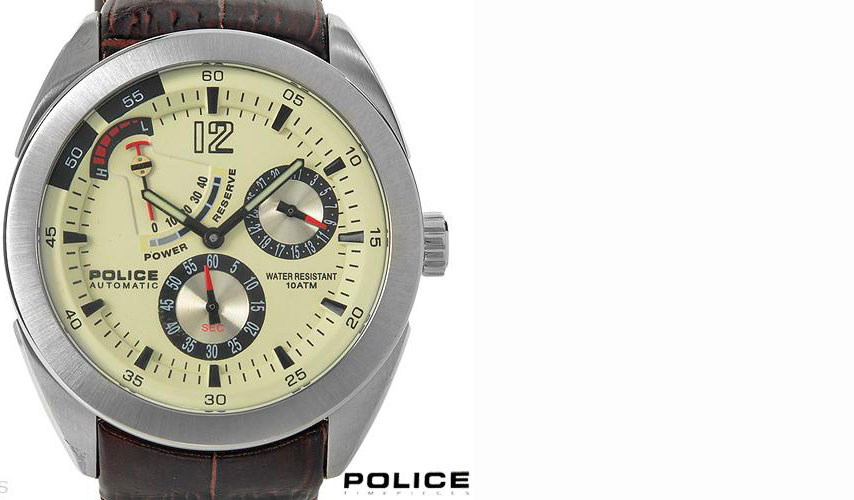 01281294/ POLICE PL-11426JS/07A Brand New Gentlemens Date Automatic Watch