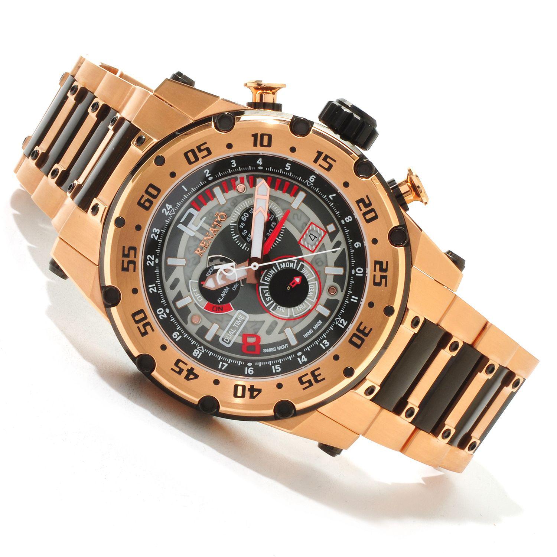Renato RMR-A-RMR-8173 Renato Buzo Extreme Dual Time Limited Production 125pcs Rose Gold/Black