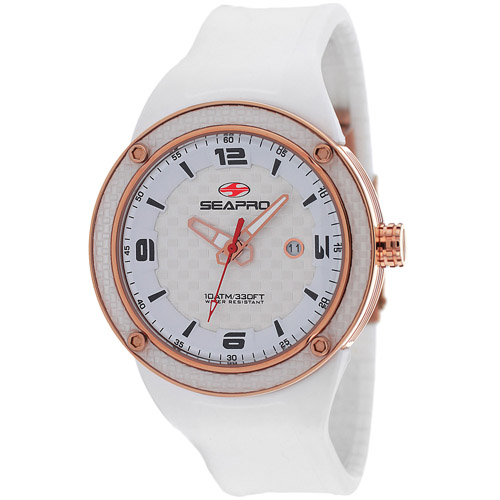 SP2114 Seapro Mens Driver White Band White Dial