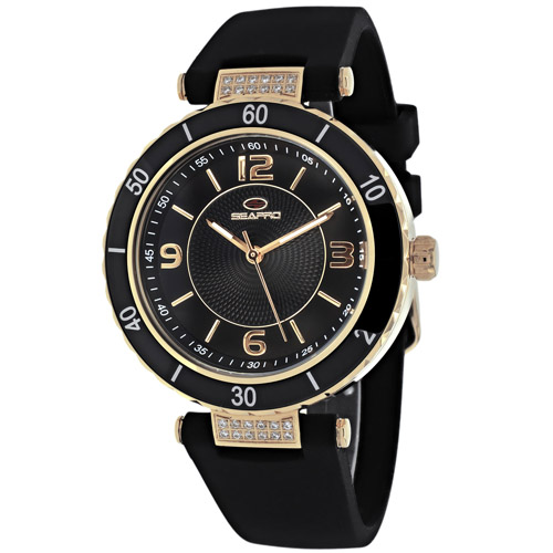 SP6414 Seapro Womens Seductive Black Band Black Dial