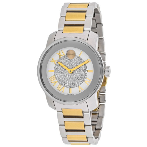 3600256 Movado Womens Bold 3600256 Two-tone Gold and silver Band Silver Dial