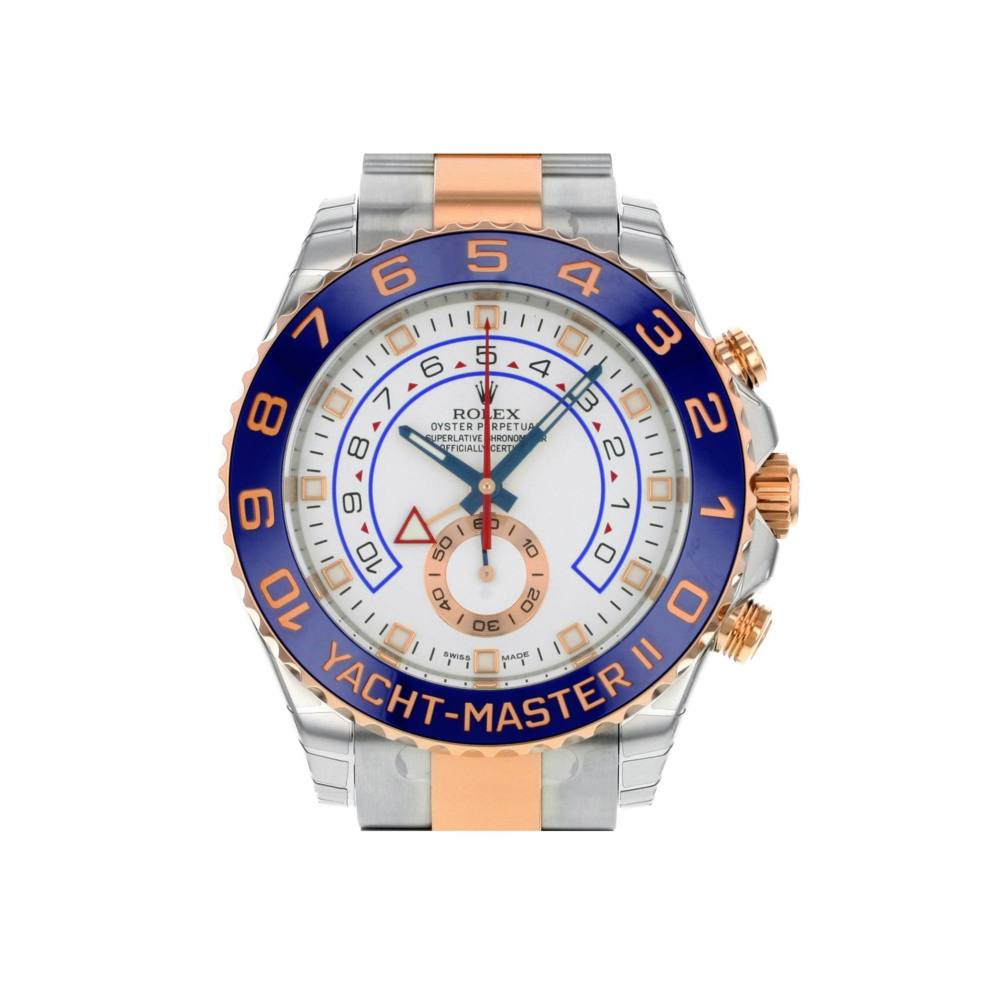 B00UB503HY B00UB503HY To UK £22,427 to US $20,665 Rolex Yacht-Master II 116681 Steel & 18K Pink Gold Automatic Men's Watch