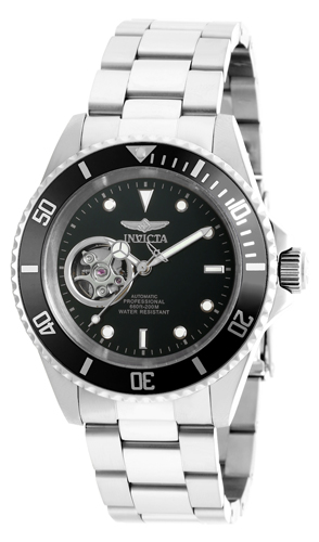 20433 Invicta Mens Pro Diver  Steel Band Black Dial