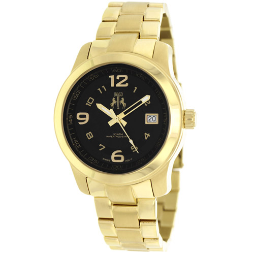 JV5213 Jivago Womens Infinity Swiss  Quartz  Gold Band Black Dial