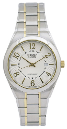 BI0954-50A Citizen Mens Classic  Quartz Two-Tone Band Silver Dial