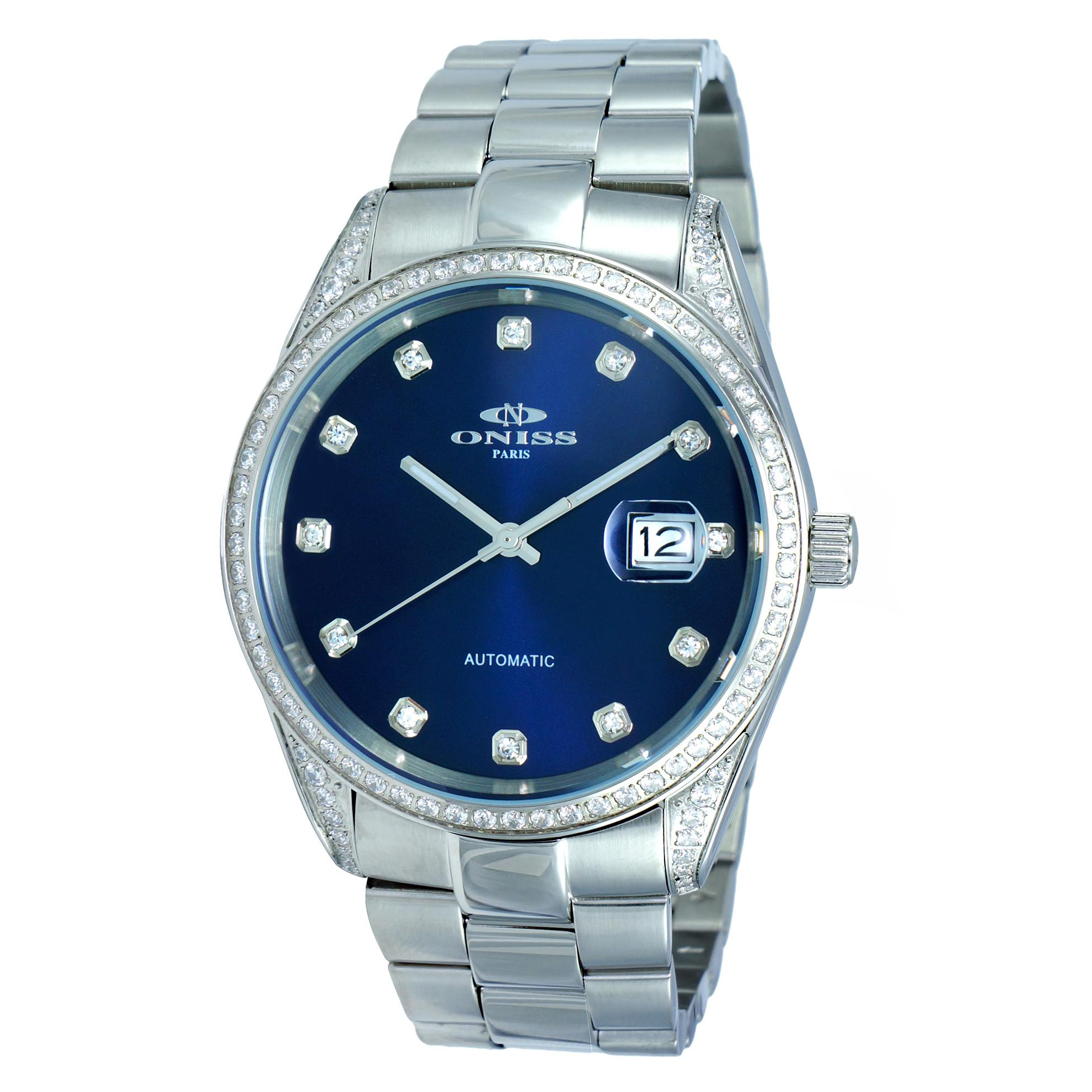Oniss ON3883-MBU Oniss RX Automatic 104 A Grade Austrian Crystals Blue Dial