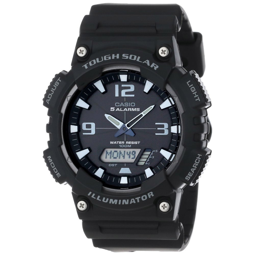 AQ-S810W-1AV Casio Mens Ana-digi Black Band Black Dial