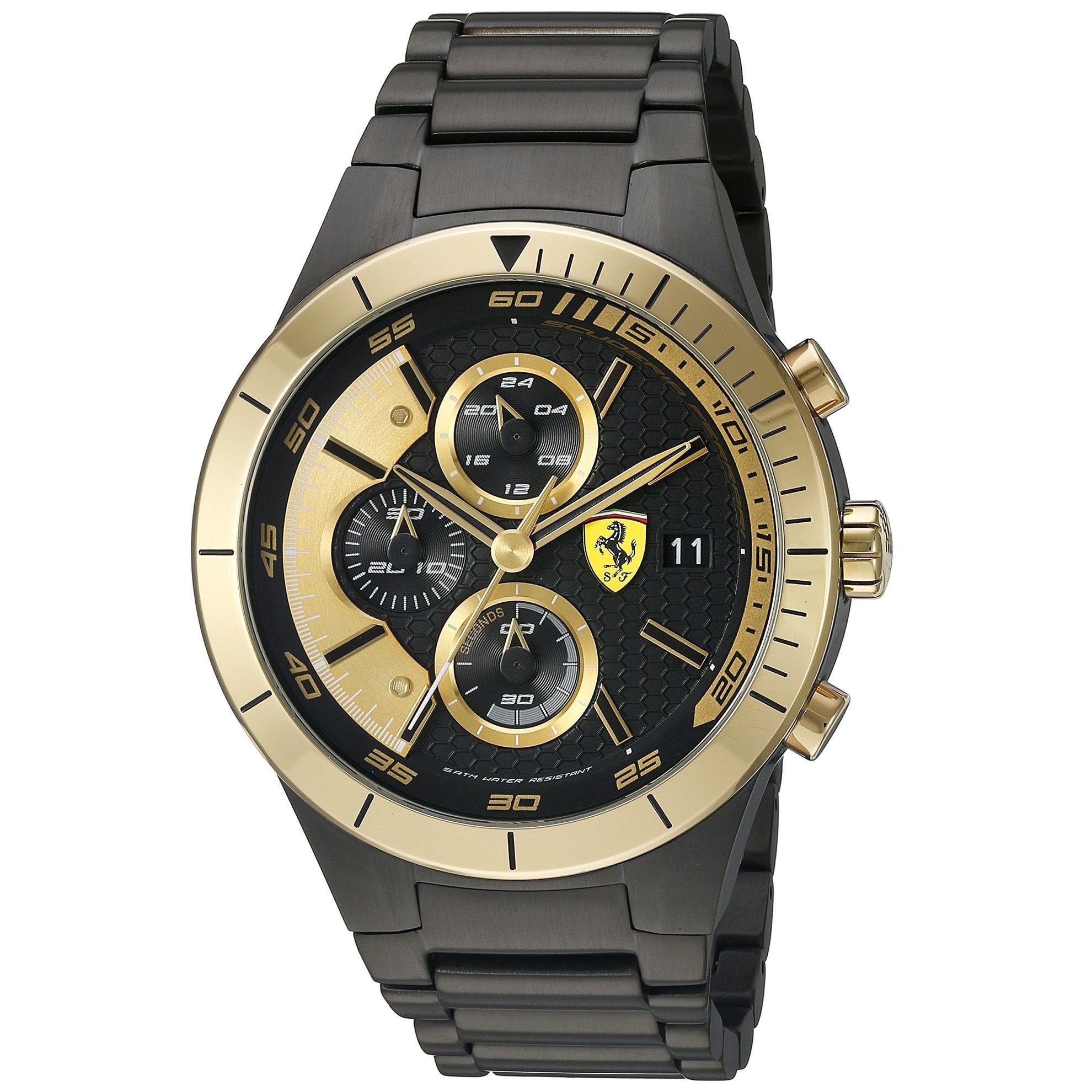 Ferrari 0830303 Ferrari RedRev Evo Chronograph Black/Gold  Dial