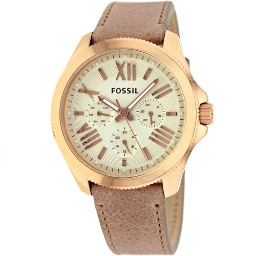 AM4532 Fossil Womens Cecile Beige Band Champagne Dial