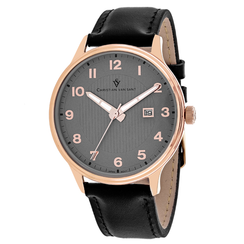 CV9810 Christian Van Sant Mens Montero Black  Band Grey Dial