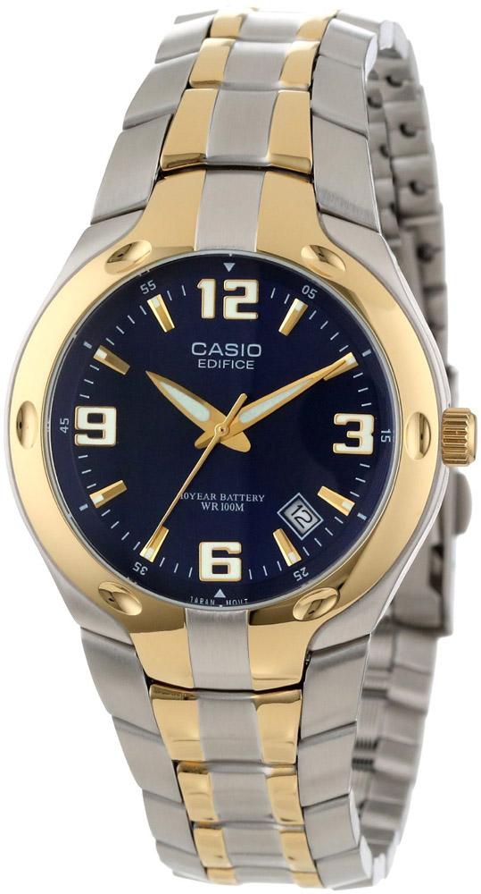 EF-106SG-2AV Casio Mens Classic Quartz Silver Band Blue Dial