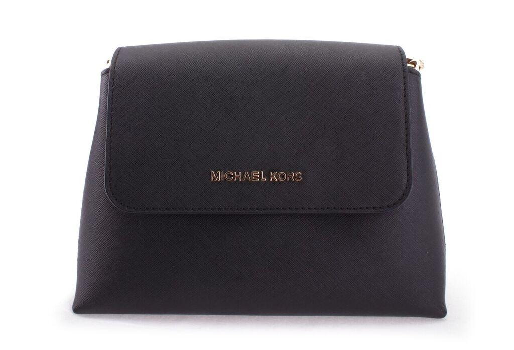 5fe00cab7ac08 35S7GPAL1LBLACK Michael Kors 35S7GPAL1L-BLACK Handbags PORTIA SM EW ...