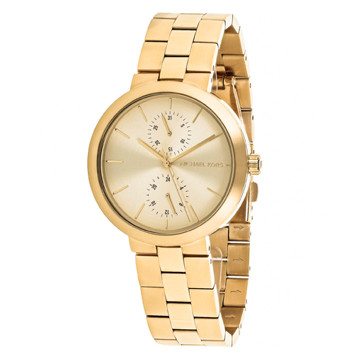 MK6408 Michael Kors Womens Garner Gold Band Gold Dial