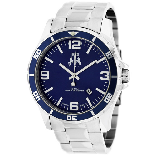 JV6116 Jivago Mens Ultimate Swiss  Quartz  Silver Band Blue Dial