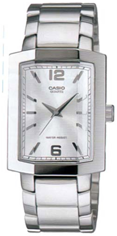 MTP-1233D-7A Casio Mens Quartz Quartz Silver Band White Dial