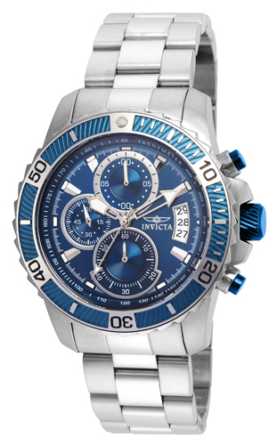 22413 Invicta Mens Pro Diver  Steel Band Blue Dial