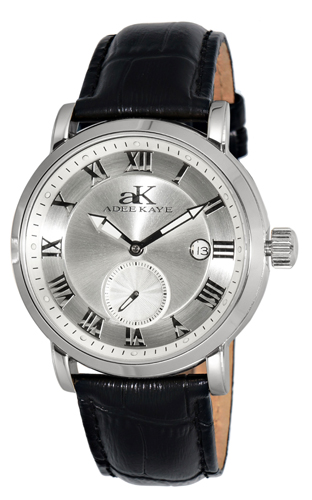 AK9060-MSV Adee Kaye Mens J-18 Auto Collection Seagull 18 Jewel Automatic Silver tone Band Silver Dial