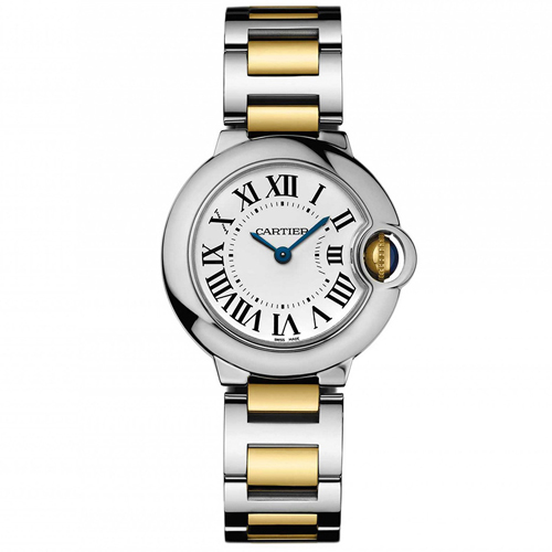 W69007Z3 Cartier Womens Ballon Bleu W69007Z3 Swiss Quartz Two-tone Gold, Silver Band Silver Dial