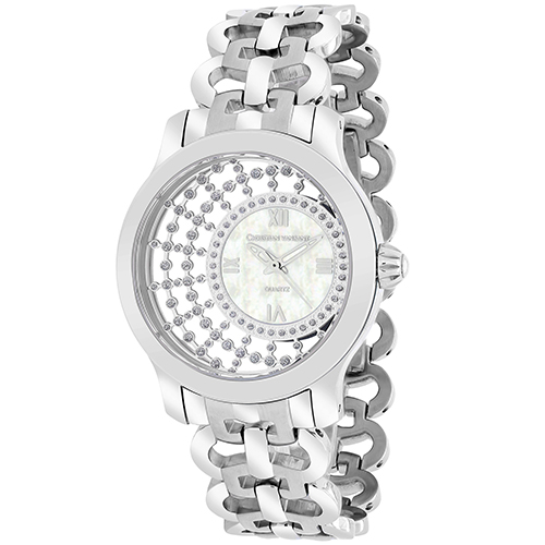 CV4410 Christian Van Sant Womens Delicate Swiss parts quartz  Silver Band White MOP Dial