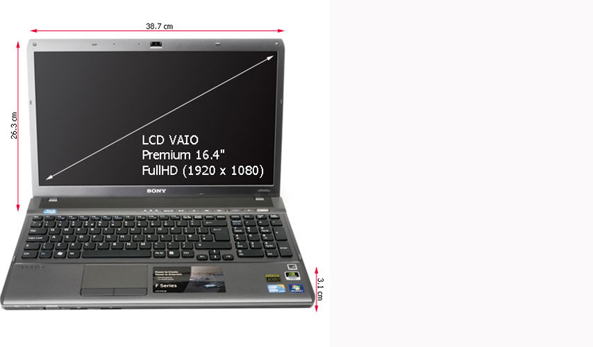 VPC-F115FM/B Sony VAIO VPC-F115FM/B-Intel Core Quad i7-720QM 1.60GHz-6GBRAM-500GBHDD-16.4in Full HD- BLUE RAY-WIN7