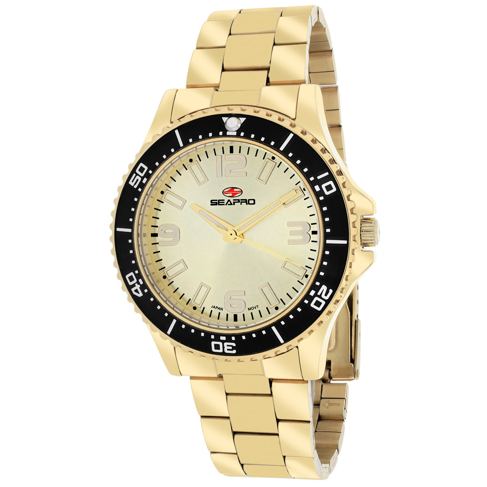 SP5413 Seapro Womens Tideway Gold Band Gold Dial