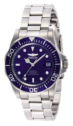 9094 Invicta Mens Pro Diver  Steel Band Blue Dial