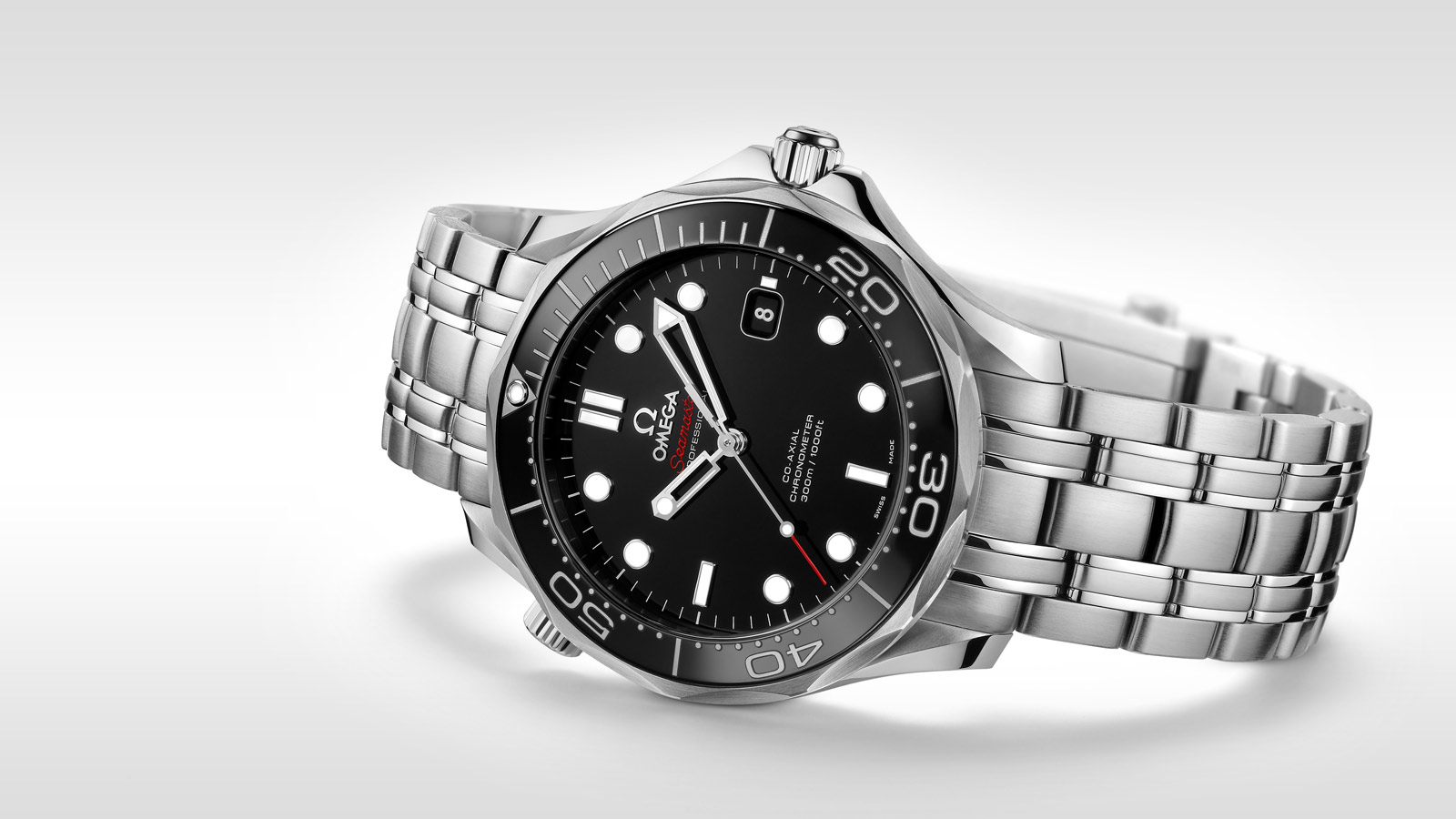 Omega B0072C8SMQ B0072C8SMQ OMEGA Seamaster Men's Steel Bracelet & Case Automatic Black Dial Analog Watch