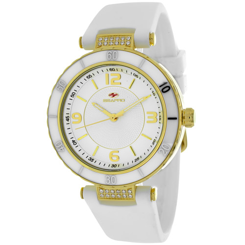 SP6411 Seapro Womens Seductive White Band Silver Dial