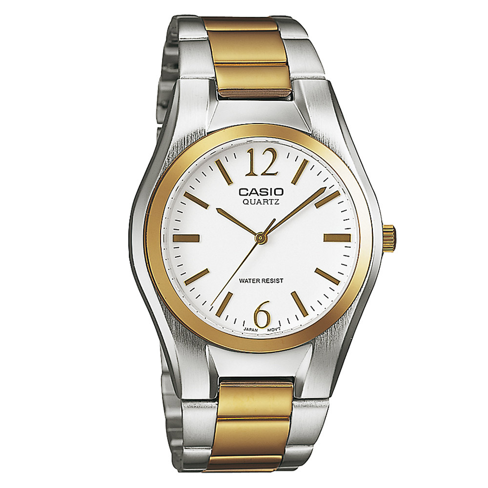 MTP-1253SG-7A Casio Mens Quartz Quartz Two Tone Band White Dial