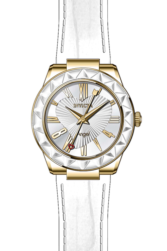 22540 Invicta Womens Angel  White Band Silver Dial