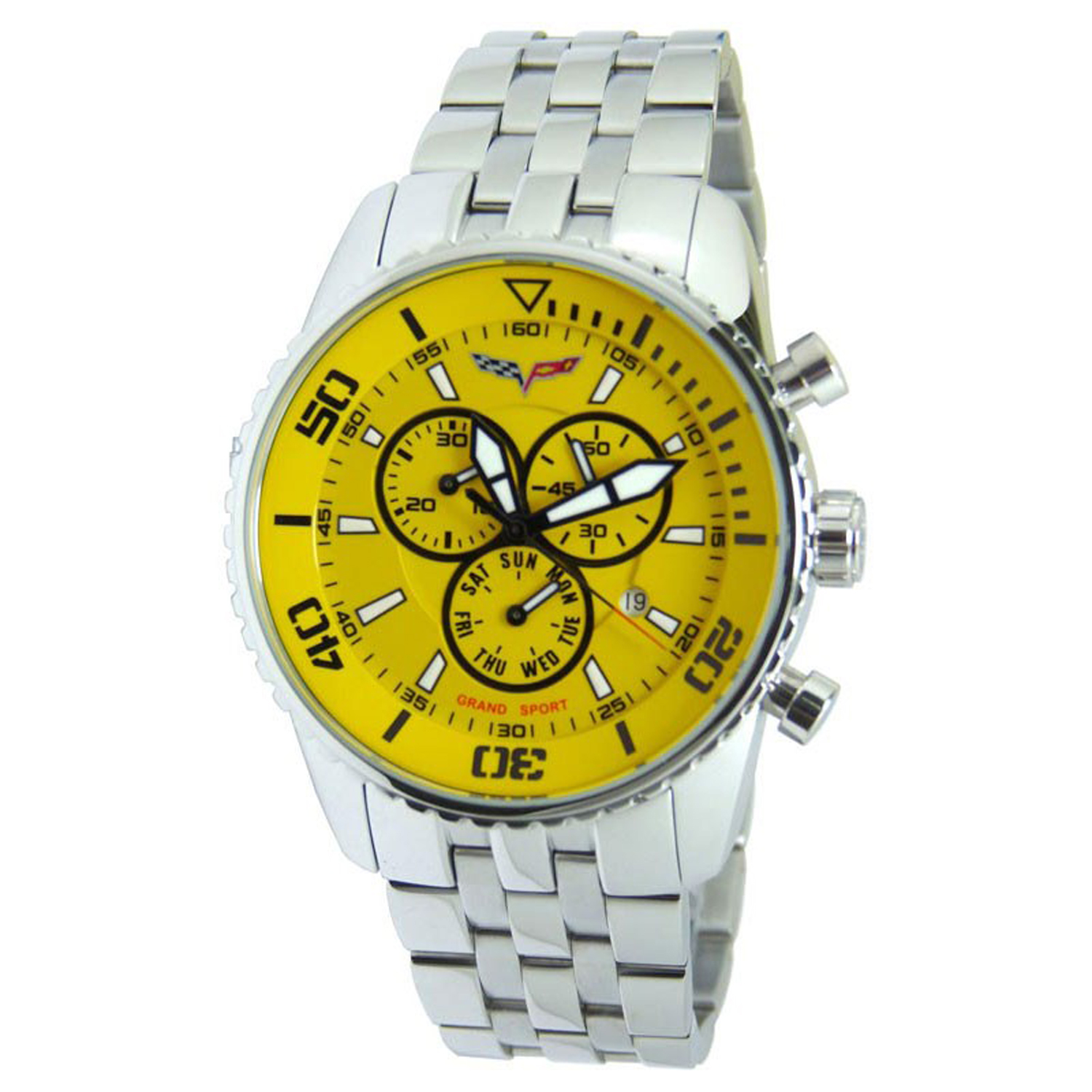 CR215-YW Corvette M Grand Sport Swiss Chronograph Yellow Dial