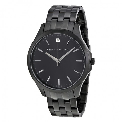 AX2159 Armani Exchange Mens Hampton AX2159 Quartz Black Band Black Dial