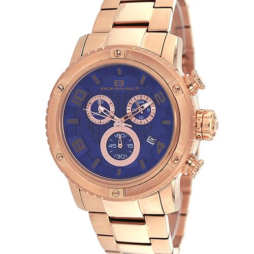 OC3126 Oceanaut Men's Impulse Sport Chronograph Rose Gold Blue