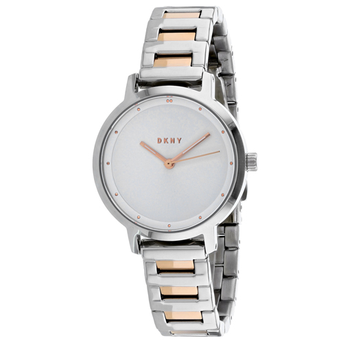 NY2643 DKNY Womens The Modernist Silver Band White Dial