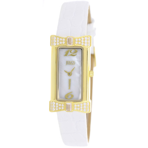 JV1414 Jivago Womens Charmante White Band White MOP Dial