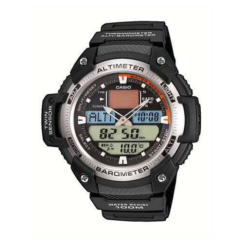 SGW-400H-1BV Casio Mens Sport Gear Quartz Black Band Digital Analog Dial