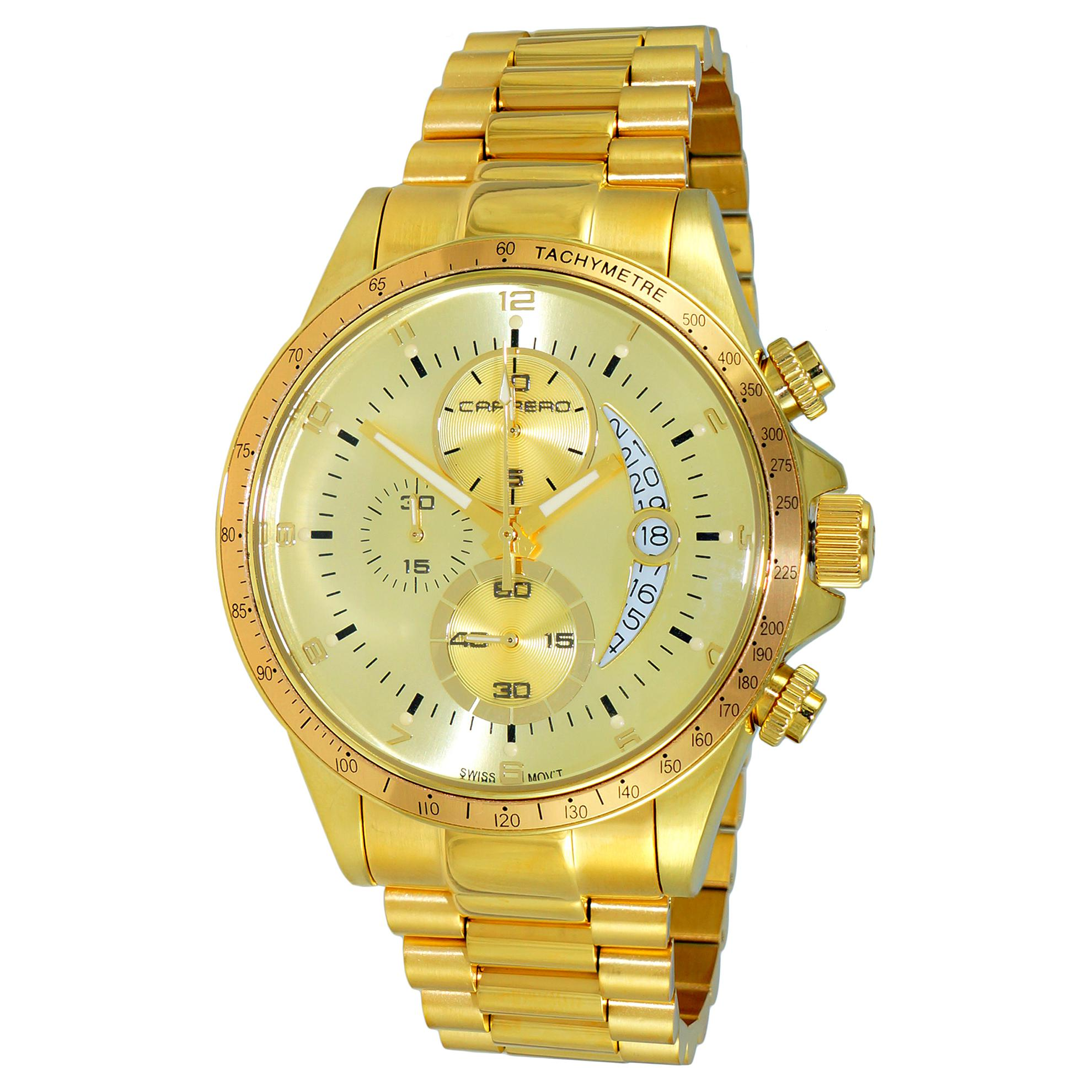 Carrero C1G111GO Carrero Catania R1 Limited Edition Swiss Chronograph All Gold