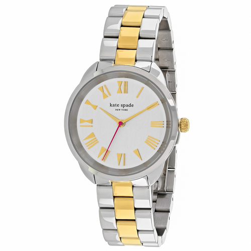 KSW1062 Kate Spade Womens Crosstown Quartz Two-tone Gold and Silver tone Band Silvler Dial
